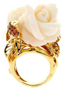 Dior Dior Rose Pre Catelan Coral Gold Ring