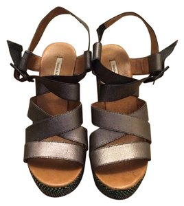 Bimba y Lola Silver Gray with Wedges