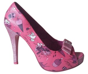 Iron Fist Glitter Punk Unicorn Pink/Glitter Pumps