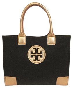 Tory Burch Ella Wool Flannel Tote in Grey