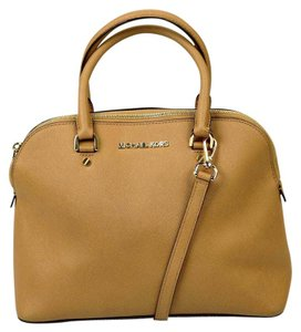 Michael Kors Saffiano Leather Satchel in Brown