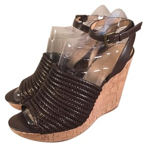 Enzo Angiolini Brown Wedges