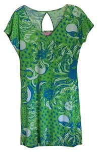 Lilly Pulitzer short dress White, Green, & Blue on Tradesy