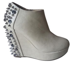 Privileged Studded Wedges Neutral Punk Beige Boots