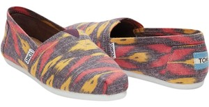 TOMS Pink Multi Flats