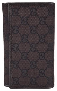 Gucci New Gucci Women's 263114 Brown Canvas GG Guccissima Bifold Wallet W/Coin