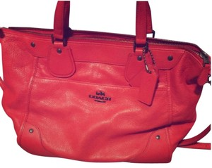 Coach Mickie Crossbody 34040 Satchel in Cardinal Red