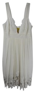 Catherine Malandrino short dress White Embroidery Silk Tank Lace on Tradesy