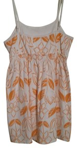 Sonoma short dress White and orange Everyday Life Style Henna on Tradesy