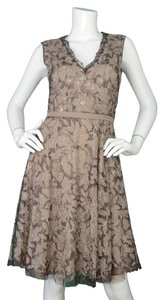 Valentino Beaded Evening Sleeveless V-neck Dress