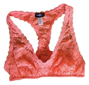 Cosabella Bralette Pink Racer-back Lace Top Coral Breeze