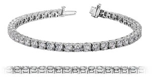 Avi and Co 6.00 cttw Round Brilliant Cut Diamond Tennis Bracelet 14K White Gold