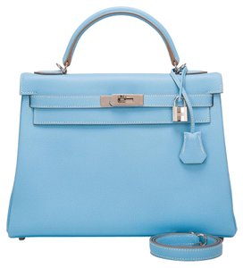 Hermès Kelly Celeste Mykonos Candy Shoulder Bag