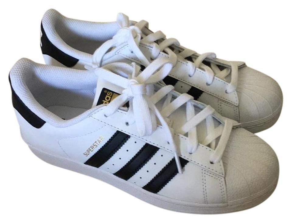 adidas Black and White Superstar Superstar White Sneakers 920df0