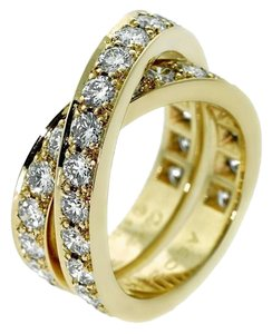 Cartier Cartier Nouvelle Vague Diamond Bypass Gold Ring