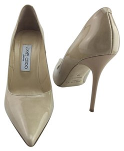 Jimmy Choo Abel Pointed Toe Nude Pumps