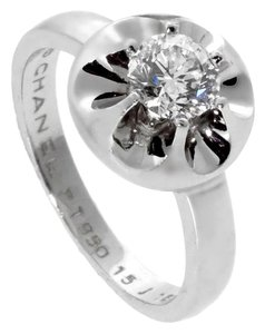 Chanel Chanel Flower Diamond Platinum Ring