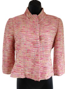 Lilly Pulitzer Spring Tweed Bright Pink, yellow, teal Jacket