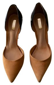 SCHUTZ Patent Suede Pump Black & Tan Pumps