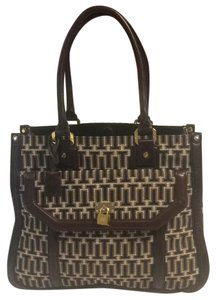 Tory Burch Satchel in Blue Brown White