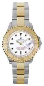 Rolex Rolex New Style Pre Owned Yacht-Master Steel and Yellow Gold White Dial 29mm.
