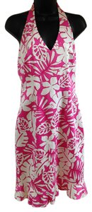 David Meister short dress Pink, white Hawaiian Floral on Tradesy