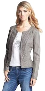 Hinge Gray Leather Jacket