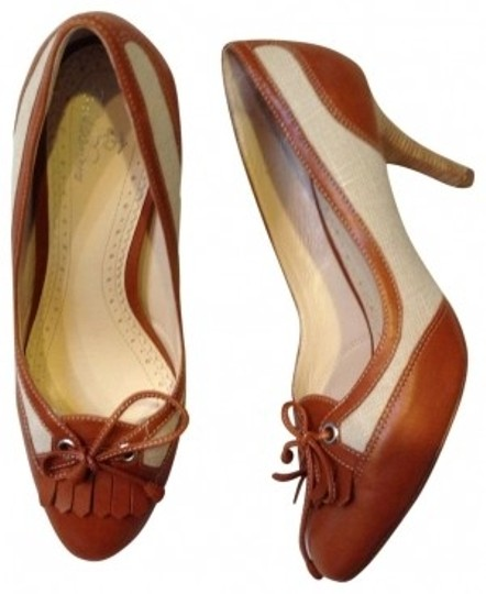 Preload https://item2.tradesy.com/images/brooks-brothers-tan-with-leather-trim-browntan-pumps-size-us-75-regular-m-b-17616-0-0.jpg?width=440&height=440