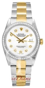 Rolex Rolex Mens Two-Tone Datejust Custom White Diamond on Oyster Band