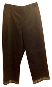 Alfred Dunner Petite New With Tags White Capris Black