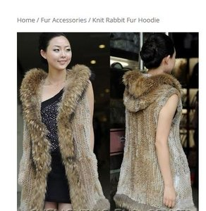 Other Fur Hooded Vest