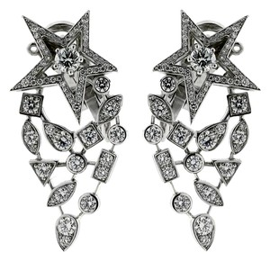 Chanel Chanel Comete Diamond White Gold Earrings