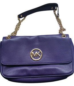 Michael Kors Pebbled Leather Chain Shoulder Bag