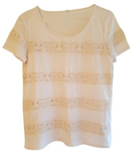 J.Crew Top Creamy White/ Lace