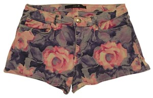 JOE'S Mini/Short Shorts Pink and purple floral