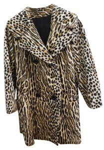 Leopard - Vintage Fur Faux Swing Bracelet Sleeve Fur Coat