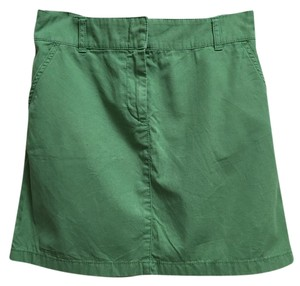 J.Crew 100% Cotton Mini Skirt Green