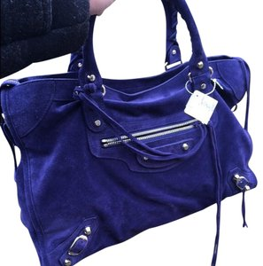 Balenciaga Satchel in Purple Blue