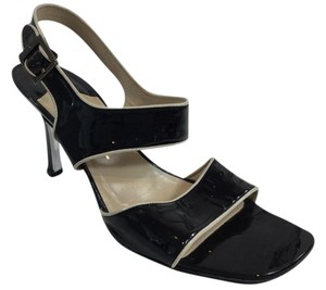 Chanel Sandal Patent Leather Black Sandals