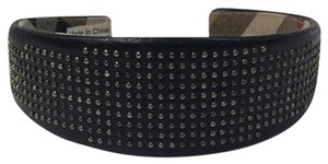 Burberry Burberry Studded Leather Black Quilted Headband Novacheck BURLM33