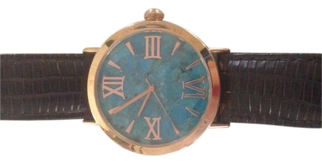Item - Turquoise Leather Strap Women's with Face Watch