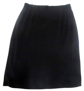 Anthea Crawford Back Slit Pencil Skirt Black