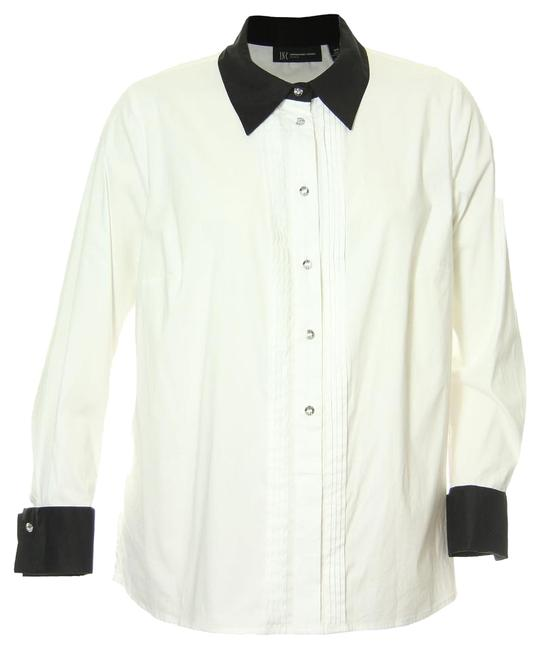 INC International Concepts White 16w Long Sleeve Button Front Tuxedo Shirt Top - 48% Off Retail well-wreapped