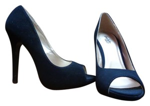 Charlotte Russe Stiletto Open Toe New With Out Box Black Pumps
