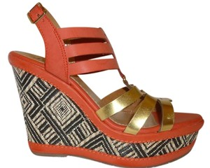 Shi by JOURNEYS Nwt Orange Wedge Orange-Multi Wedges