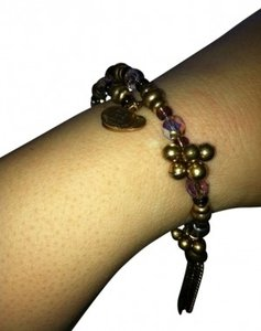 Alex and Ani Discontinued gold and purple bead Alex and Ani wrap