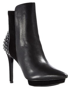 Alice + Olivia Pointed Toe Ankle Studded Black Boots