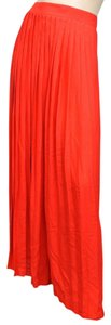 Gucci Runway Long Pleated Maxi Skirt Red