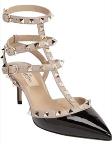 Valentino Black and Nude Pumps