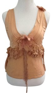 toy g. Silk Top nude